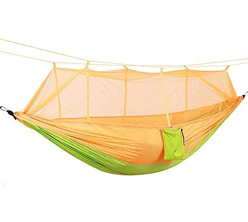 XQYPYL Portátil Hamaca,Doble Hamacas de Camping,Hamaca para Acampar con Mosquitero Adecuado para Senderismo, Acampar, Playa,01,260 * 140cm