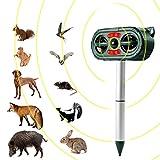 Animal Repellent Ultrasonic Cat Repellent Danolt 5 Mode Waterproof Fox Deterrent Cat Deterrent Solar USB Powered for Garden Farm
