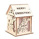 Logicstring Centro Comercial Supermercado Ventana de visualización Luces Casa de Nieve Adornos navideños para la Barra del Hotel Decoración del árbol de Navidad