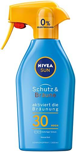 NIVEA SUN Sonnenspray, Lichtschutzfaktor 30, Trigger-Sprühflasche, Schutz und Bräune, 300 ml