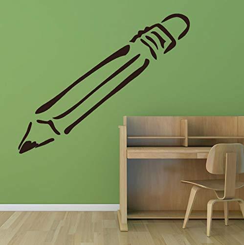 Smntt Große Zeichnung Bleistift Wandaufkleber Baby Schlafzimmer Cartoon Muster Home Decor Abnehmbare Vinyl Wandtattoo