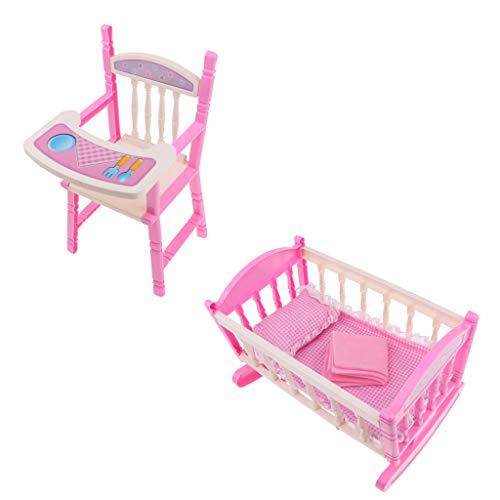 Harilla Reborn Doll Baby Toddler Furniture Playset - ABS Trona Cuna Cama Cuna