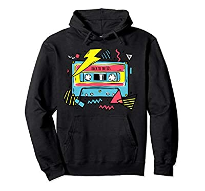 Unisex Back to the 80s Cassette Graphic Hoodie, 5 Colours