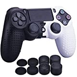 YoRHa Studded Dots Silicone Rubber Gel Customizing Cover for Sony PS4/slim/Pro Dualshock 4 Controller x 1(Black&White)...