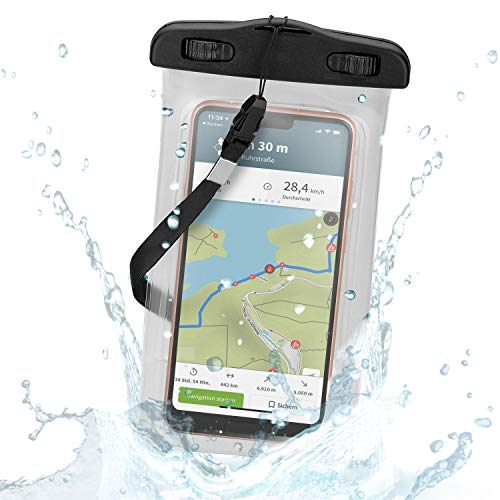 Wicked Chili XL wasserdichte Smartphone Schutzhülle für Samsung Galaxy S10+, S10e, S10 LG G6, Honor 6X, HTC U12+ & Handys bis 5,5 Zoll (Max. Maße: 88 x 165 mm, Wasserdicht bis 3m, IPx8)
