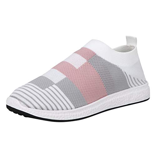 Cheap ZOMUSAR Women's Shoes, Women's Ladies Plus Retro Girls Striped Patchwork Sport Sneakers Girl C...