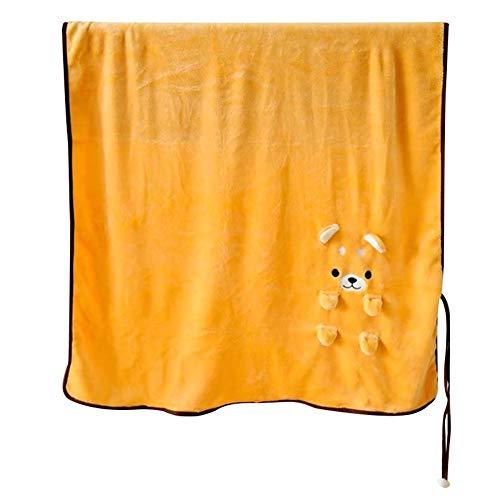 Ceyka Couverture de pause déjeuner, couverture cartoon Shiba Inu, pliable, confortable et douce, couverture en microfibre, velours, décoration longue durée de vie pour climatisation domestique