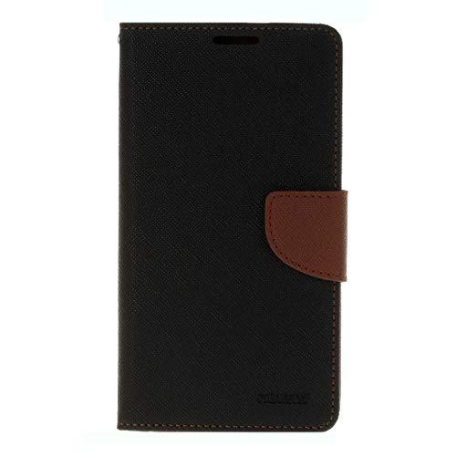YKDY - Funda de Piel para Samsung Galaxy C5 Pro con Ranuras para Tarjetas, Tarjetero y Cartera, Color Negro