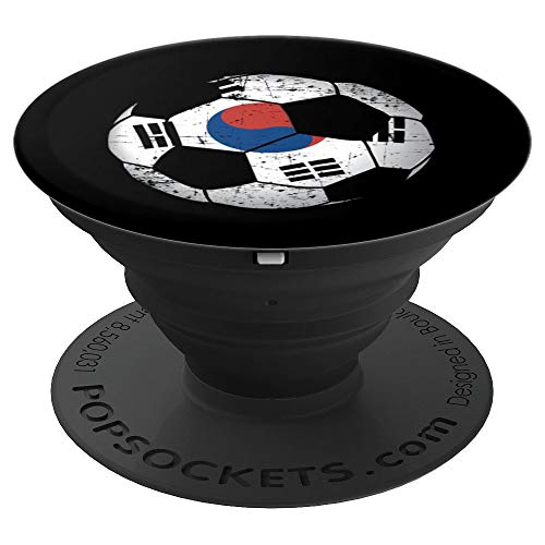 South Korea Soccer Ball Flag Jersey - Korean Football PopSockets Grip and Stand for Phones and Tablets