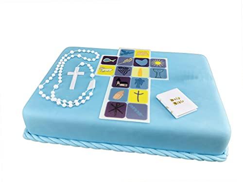 Cake Company Tortendeko Kommunion blau Junge | Kuchen und Torten schnell und einfach dekoriert