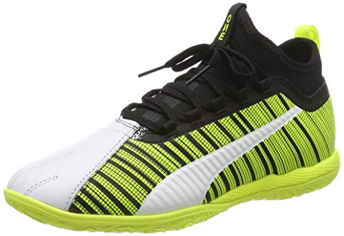 PUMA One 5.3 IT, Scarpe da Calcetto Indoor Unisex Adulto, Bianco (White-Black-Yellow Alert), 39 EU