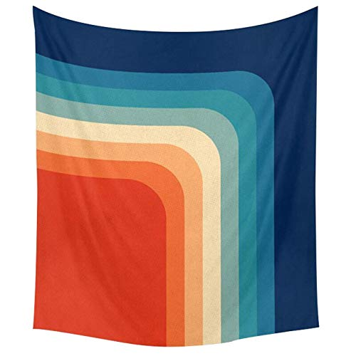 Bdhbeq Tapiz geométrico de arcoíris, Alfombra montada en la Pared, Estera de Yoga, Alfombra para lanzar en la Playa, Manta, colchón, colchoneta para Dormir