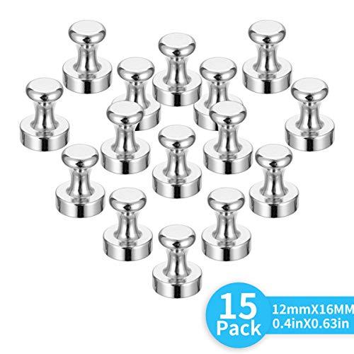 Neodym Magnete-Magnete Klein Stark für Pinnwand, Whiteboard, Kühlschrank, Magnettafel,klein Pin vernickelte Stahl Magnete,16mm pin