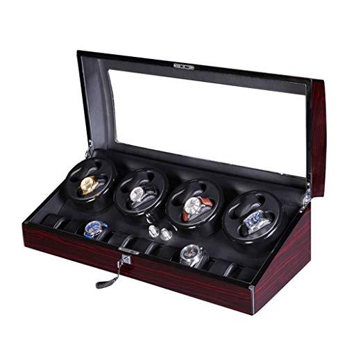 SGSG Scatola Carica Orologi Automatica di Lusso in Legno di Lusso per 8 Orologi da Polso 9 Custodia Motore Silenzioso 4 modalità di Rotazione [100% Fatto a Mano]