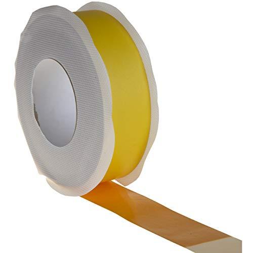 2x Dampfsperrklebeband gelb 50mm x 40m - Hochleistungsklebeband für Dampfsperrfolie Dampfbremsfolie Dampfbremse Dampfsperre, universell einsetzbar