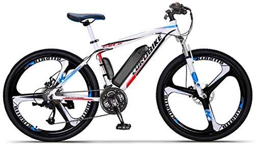 Fangfang Bicicletta Elettrica, Adulti 26 inch Electric Mountain Bike, 36V Batteria al Litio, Telaio Lega di Alluminio Offroad Bicicletta elettrica, 27 velocità,Bicicletta (Color : B, Size : 60KM)