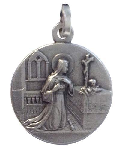 Medaglietta' Santa Rita da Cascia' In Argento Massiccio 925 - La Santa dei Casi Impossibili