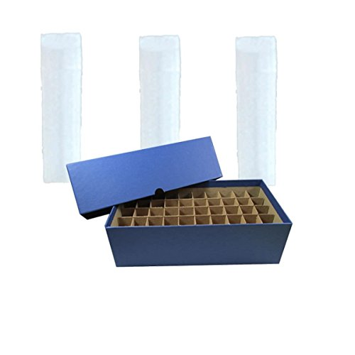 Nickel Coin Tube Box with 50 Square Numis Brand Coin Tubes