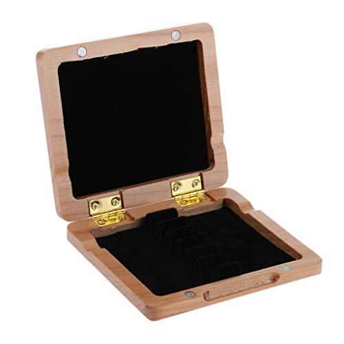 Klassisches Holzbox Blattetui für Saxophon/Klarinette, 6 Blätter Positionen - Holz