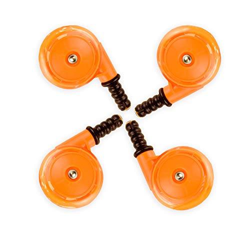 Rueda de repuesto para bebé (4 unidades), color naranja