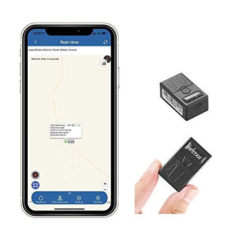 TKSTAR Mini GPS Tracker,Localizzatore GPS Posizionamento WIFI in Tempo Reale GPS Tracker per Auto da Antifurto per Borse a Portafoglio da Scuola per Bambini Documenti Importanti Finder Perso con APP