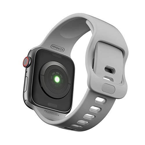 KTZAJO 2021 La última correa para Apple Watch Band 5 38 mm 42 mm para iWatch 5 4 Band 44 mm 40 mm deporte silicona correa pulsera para Apple Watch 5 4 3 2 Loop - rojo vino - 38 mm o 40 mm