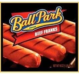 BALL PARK FRANKS HOT DOGS BEEF 16 OZ PACK OF 2