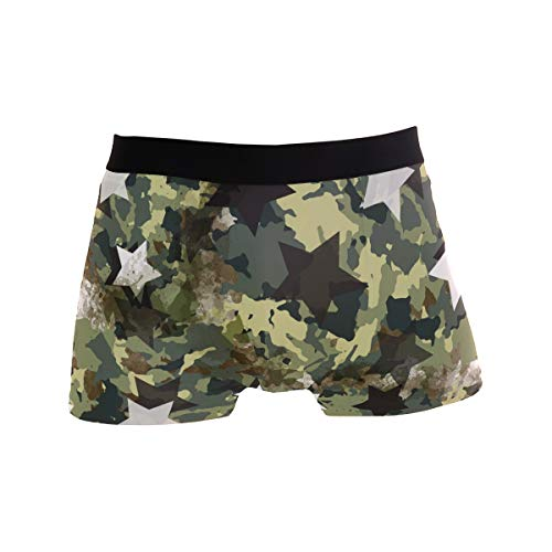 DOGZI Hombres Calzoncillo B/óxers Estampado Camuflaje Calzoncillos Ropa Interior Bragas Suave Panties