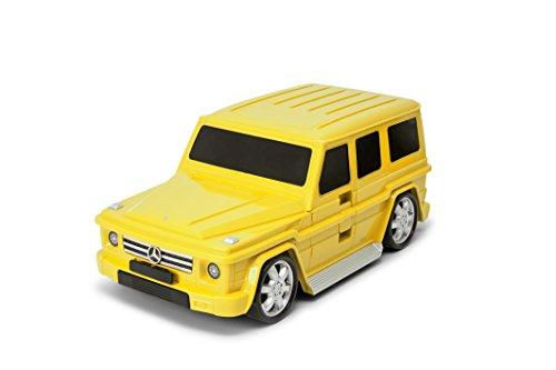 Packenger Kinderkoffer - Mercedes G-Klasse - Original Mercedes Benz Lizenzprodukt, Gelb, Auto, Bordcase, Koffer mit Teleskopstange und Ziehgurt