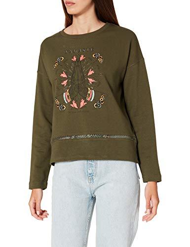 Springfield Sudadera Namasté Detalle Crochet, Verde, L para Mujer