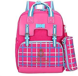 キッズバックパック 女の子のためのスクールバックパック男の子キッズ小学校バッグブックバッググレード2-6学生 男の子と女の子のために (色 : ローズレッド, サイズ : ワンサイズ)