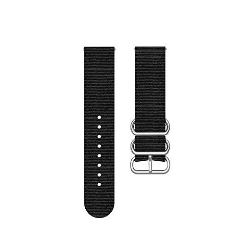 DFKai1run Correa de Nailon, Anillo de Plata Hebilla Tejida Correa de Nylon para Ver la Banda de Tela de 46 mm 42mm para Ver Reloj de Reloj Estilo clásico