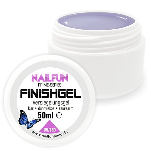 NAILFUN Prime Versiegelungsgel [50ml] UV & LED dünnviskose hochglänzend selbstglättend Finish-Gel