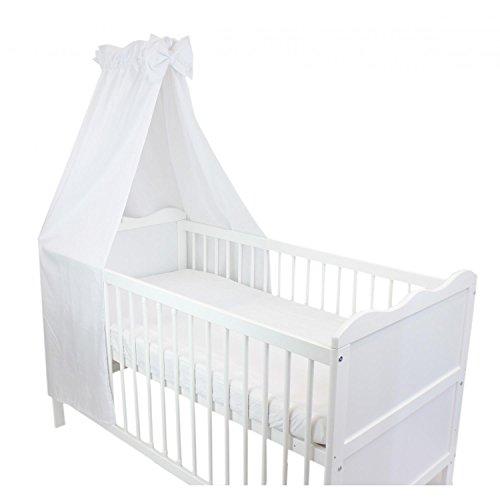 TupTam Babybett Himmel mit Schleifchen, Farbe: Weiß, Größe: ca. 160x240 cm
