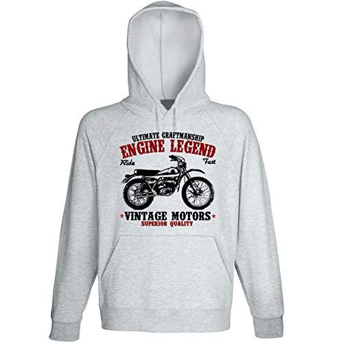 TEESANDENGINES Bultaco Alpina 1974 Veste à capuche pour homme Gris - Gris - Medium