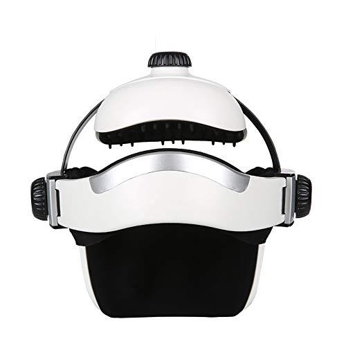 ACCDUER Head Massager, Eye Massager 2-en-1 Casco eléctrico Masajeador con presión de Aire Compresión de Calor Vibración Música Relajante Control inalámbrico Recargable