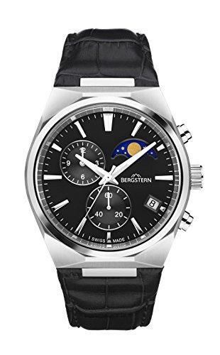 Orologio bergstern per uomo con cinturino e schermo in nero b049g230