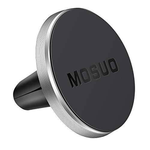 MOSUO Soporte Móvil Coche Magnético Ventilación, Universal iman para movil Coche para Rejillas del Aire, iman Télefono para iPhone Samsung LG y los Otros Smartphones GPS Dispositivo, Plata