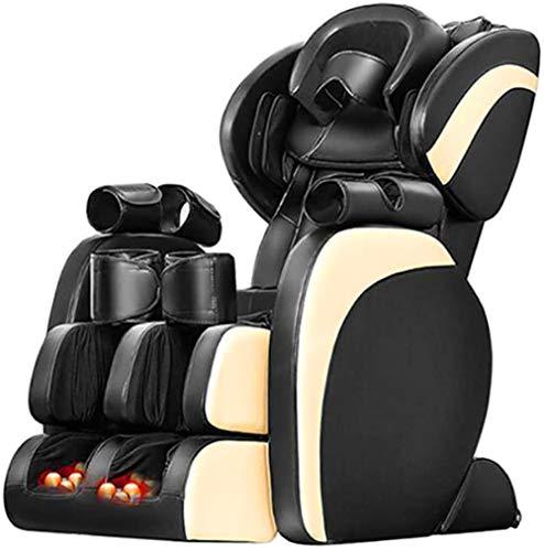 CLOTHES Sillas De Masaje Cuerpo Completo Y Reclinable, Hogar Multifuncional Silla de Masaje eléctrica cápsula Entera Cuerpo masajeador sofá Ancianos (Color : Black)