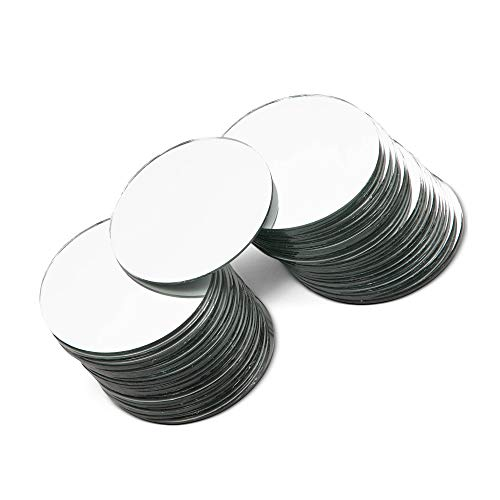Round Mirror Tiles for Crafts (3 Inch, 50-Pack)