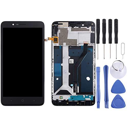 YANTAIAN Piezas de reparación de teléfonos celulares ZTE Blade Z MAX / Z982 Pantalla LCD Pantalla táctil digitalizador con Marco (Color : Black)