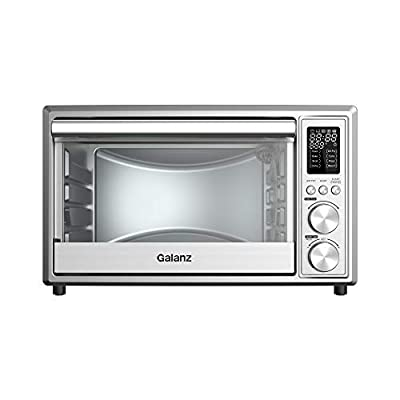 Galanz GTH12A09S2EWAC18 Digital Toaster Oven with Air Fry 1800W/0.9 Cu.Ft, 8 Pre-set Cooking Functions, LED Display, Interior Light, 150F – 450F, 25L, Stainless Steel