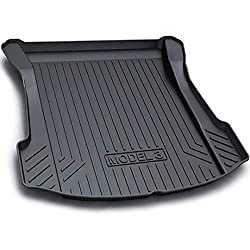 Tesla Model 3 Trunk Mats Custom Cargo Liner All Weather Trunk Protection Mat