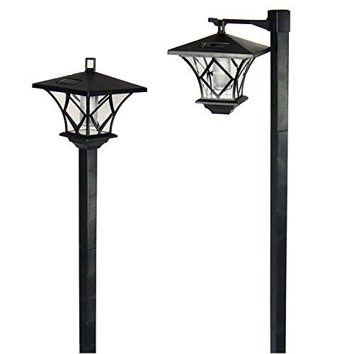 Taylor & Brown 59' Solar Hanging Lamp/Post Lights, Outdoor Solar Powered Vintage Street Lights Waterproof Decorative Lamp for Garden, Lawn, Pathway, Driveway, Front/Back Door (1 Pack)