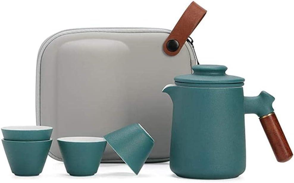 Teapot Japanese, Sacramento Mall Ceramics Travel Set Anti-scaldin Tea Portable Brand new