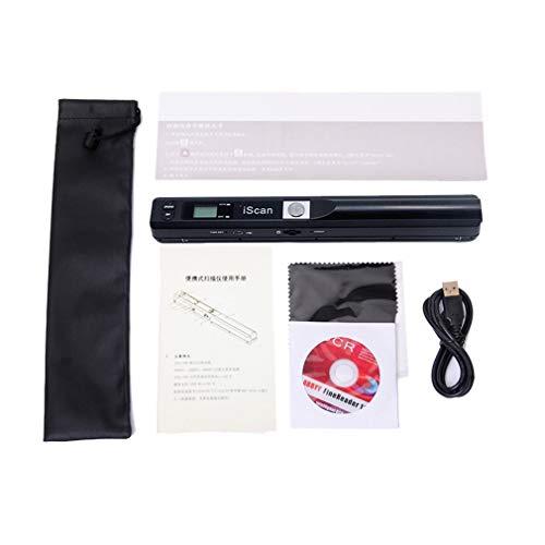 Escáner Escáner de Mano Escáner portátil Escáner de lápiz Escáner de Alta definición Negro