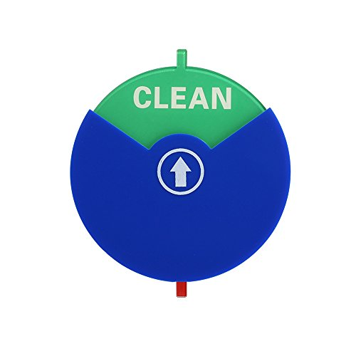 Dishwasher Magnet Clean Dirty Sign,Bestaid Kitchen Dishwasher Indicator with 6 Pieces Strong Magnet or Sticky Tab Adhesion, Disc Spinning Switch Design Work on All Dishwashers Blue Color