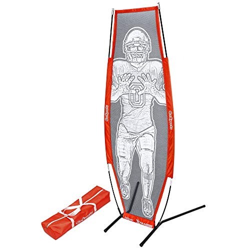 GoSports Football Xtraman Dummy Defender Quarterback Training Mannequin - QB Receiver for Passing Accuracy, Footwork Drills and Practice Clearing Linemen, Red