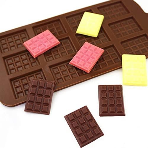 YANHUIG 12 galler diy choklad chip mögel vaffel pudding bakverk verktyg tårta dekoration kök tillbehör e (köp en får två gratis, tre totalt)