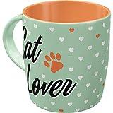 Nostalgic-Art Taza de café Retro Animal Club – Cat Lover – Idea de Regalo para dueños de Gatos, Cerámica, Diseño Vintage, 8.5 x 13 x 9 cm